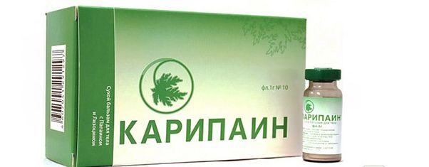 Карипаин гель при грыже позвоночника инструкция